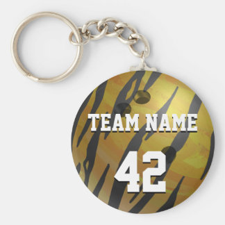 Bowlings-Ball-Tiger-Gelb Schlüsselanhänger