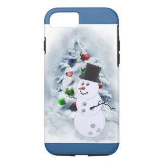 Bowlings-Ballsnowman-Weihnachten iPhone 7 Hülle