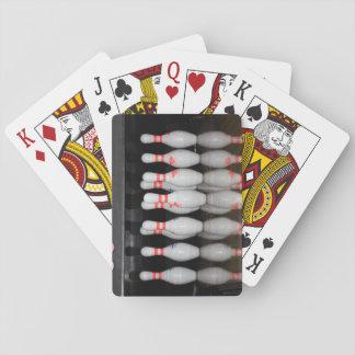 Bowlings-Button-Spielkarten Spielkarten