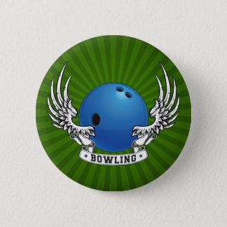 Bowlings-Flügel-Knopf Runder Button 5,1 Cm