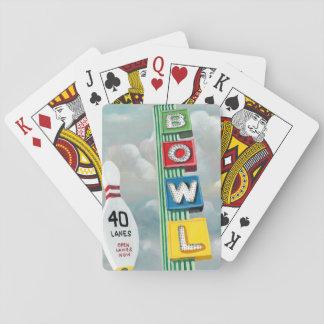 Bowlings-Gassen-Grafik Spielkarten