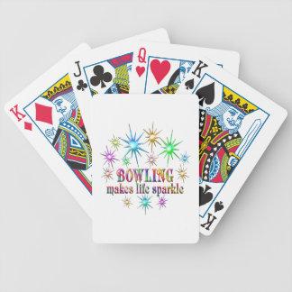 Bowlings-Glitzern Bicycle Spielkarten