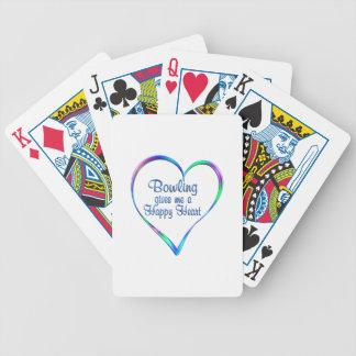 Bowlings-glückliches Herz Bicycle Spielkarten