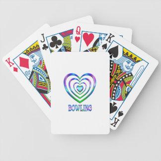 Bowlings-Herzen Bicycle Spielkarten