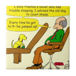 Boxer 913, der Schaf-Cartoon zählt Keramikfliese