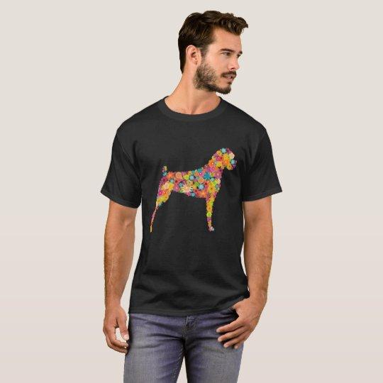 Boxer-Blumen-Shirt T-Shirt
