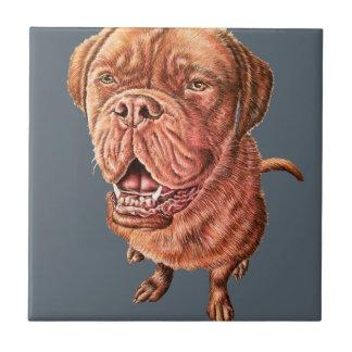Boxer-Bulldoggemastiff-Hund, der Tierkunst Keramikfliese