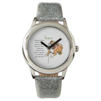 Boxer-Erbe der Liebe Armbanduhr