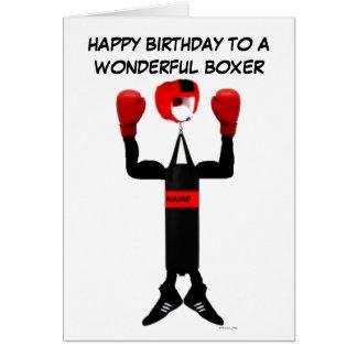 Boxer-Geburtstags-Cartoon Karte