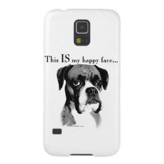 Boxer-glückliches Gesicht Samsung Galaxy S5 Hülle