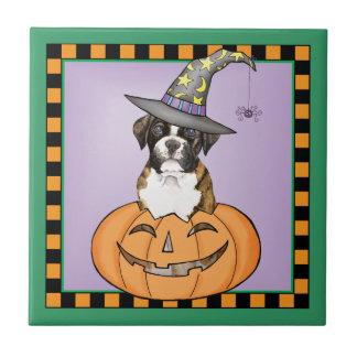 Boxer Halloween Keramikfliese