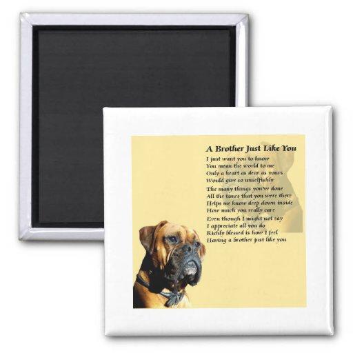 boxer hund bruder gedicht k hlschrankmagnete zazzle. Black Bedroom Furniture Sets. Home Design Ideas