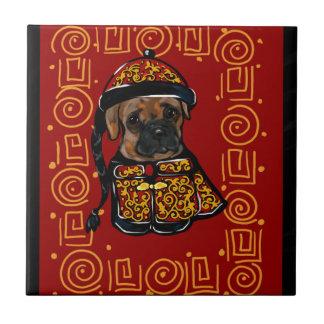 Boxer-Hund des Jahres Keramikfliese