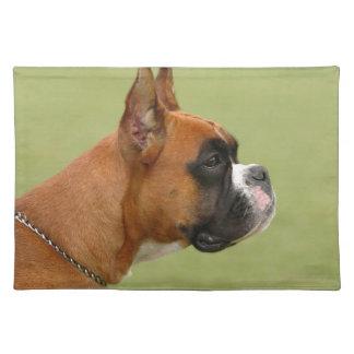 Boxer-Hund Stofftischset