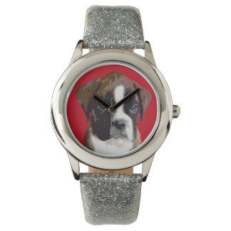 Boxer-Hündchen Uhr