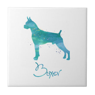 Boxer-HundeAquarell Fliese