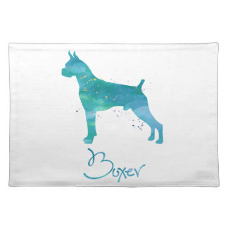 Boxer-HundeAquarell Tischset