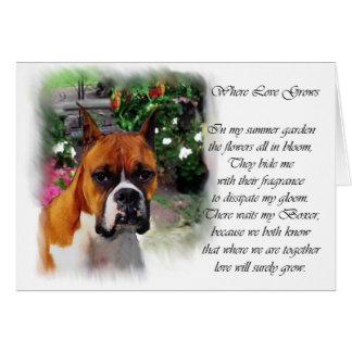 Boxer-Hundekunst-Geschenke Grußkarte