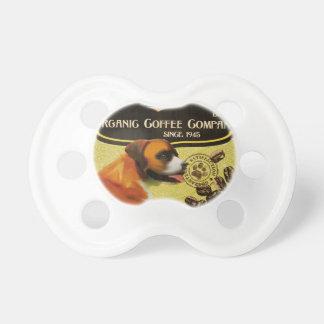 Boxer-Hundekunst-Plakat - Bio Kaffee-Firma Baby Schnuller