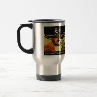 Boxer-Hundekunst-Plakat - Bio Kaffee-Firma Edelstahl Thermotasse