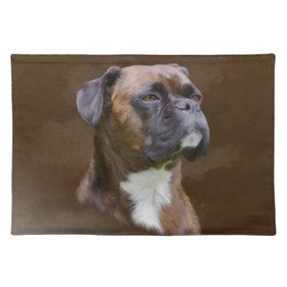 Boxer-HundeÖlgemälde-Kunst-Porträt Tischset