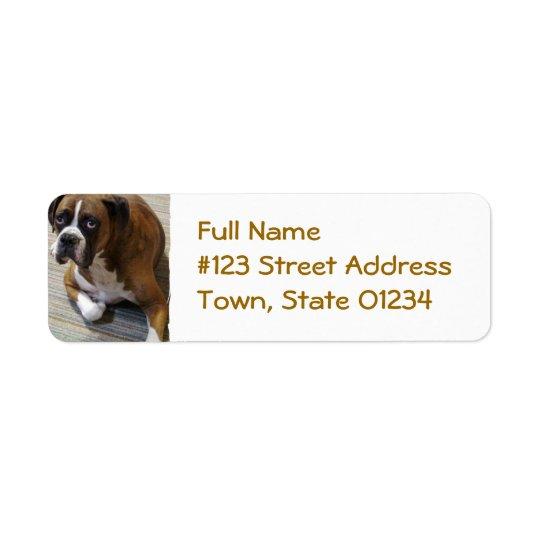 Boxer-HundeRücksendeadresse-Aufkleber