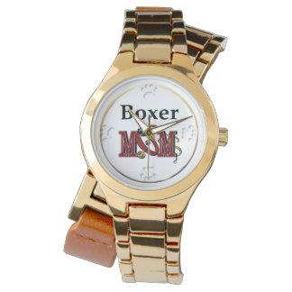 Boxer-Mamma-Geschenke Armbanduhr