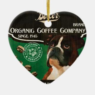 Boxer-Marke - Organic Coffee Company Keramik Herz-Ornament