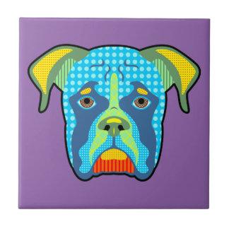 Boxer-Muster-Pop-Kunst Fliese