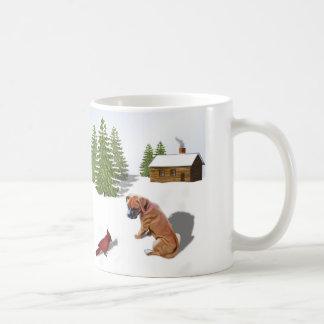 Boxer-Welpe und Kardinal Kaffeetasse