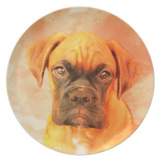 Boxerhundekunst-großer Teller