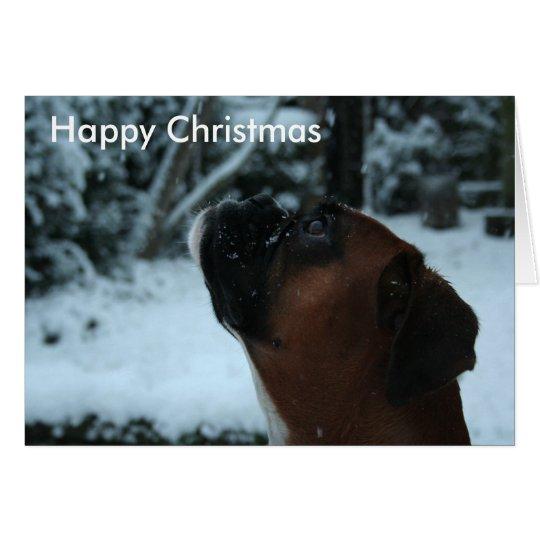 Boxerhundjolie Weihnachtskarte Grußkarte