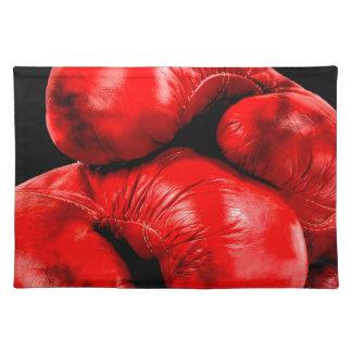 Boxhandschuh-Boxer-Schmutz-Art Tischset