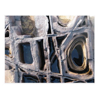 Boxwork Concretions auf Wespe-Kopf Postkarte