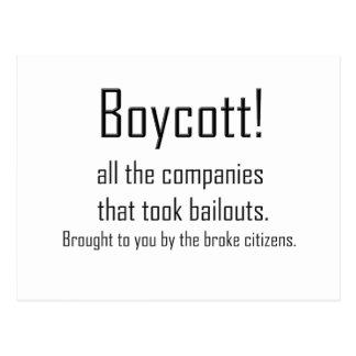 Boykott Postkarte