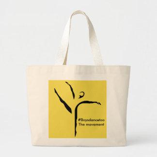 #Boysdancetoo die Bewegung Taschen-Tasche Jumbo Stoffbeutel
