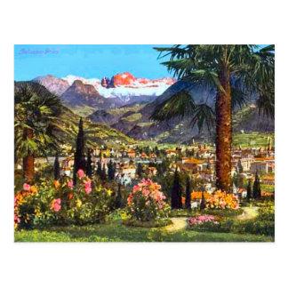 Bozen, Italien und die nahe gelegenen Alpen Postkarte