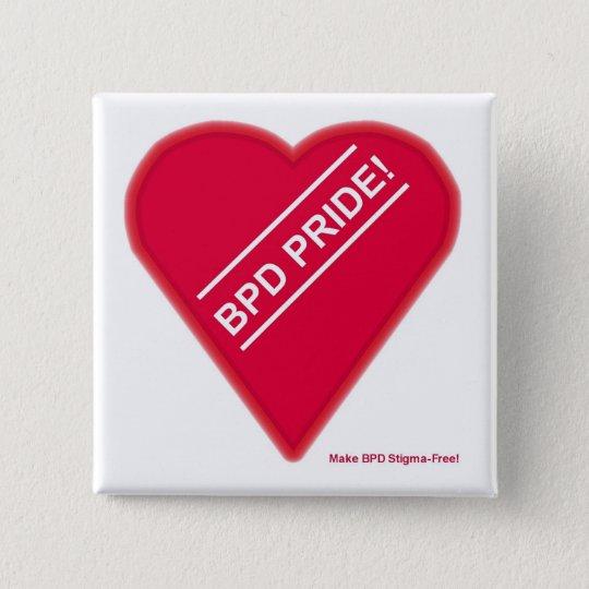 Bpd-Stolz-Knopf Quadratischer Button 5,1 Cm