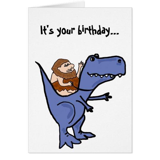 BR lustige T-Rex Geburtstags-Karte Karte