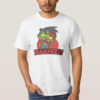 BRAAINZ ! ! ! Chemise de zombi (la MEILLEURE PIÈCE Tee Shirts