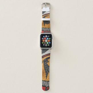 Bracelet Apple Watch Bande de montre africaine de tissu pour la montre