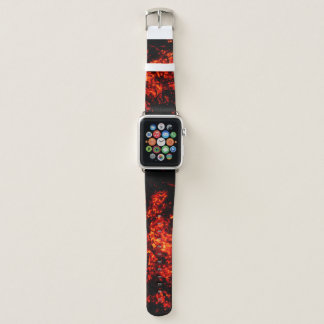 Bracelet Apple Watch Bande de montre brûlante unique d'Apple de braises