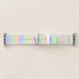 Bracelet Apple Watch Bande de montre rayée en pastel colorée d'Apple