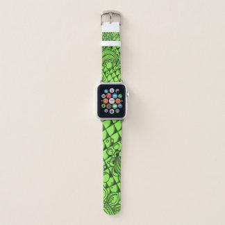 Bracelet Apple Watch Bande de montre verte moyenne d'Apple