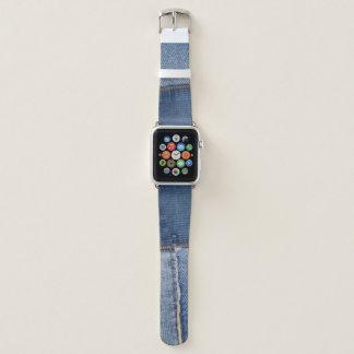Bracelet Apple Watch Copie raccordée de denim