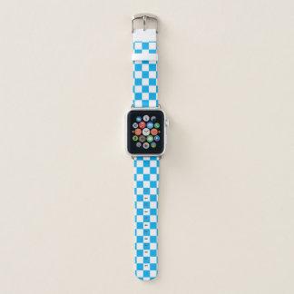 Bracelet Apple Watch Damier bleu