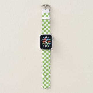 Bracelet Apple Watch Damier de vert jaune