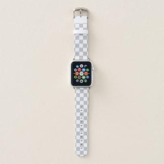 Bracelet Apple Watch Damier gris