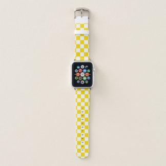 Bracelet Apple Watch Damier jaune