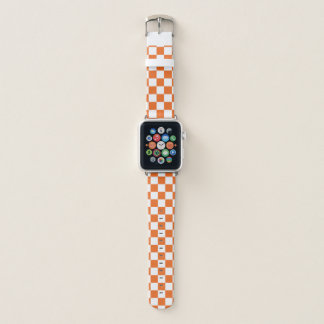 Bracelet Apple Watch Damier orange